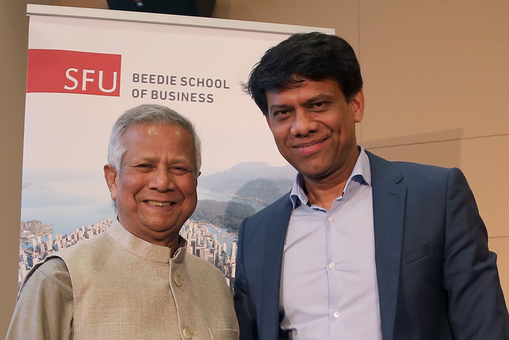 SFU Beedie hosts Nobel Peace Prize winner